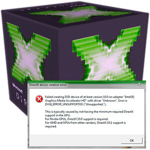 directx device creation error